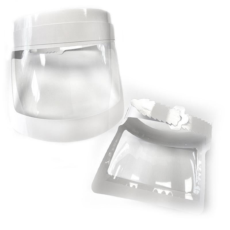 Adjustable protective visor single use (6 unit package) - Sanitary equipment - Perfume Discount